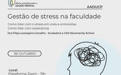 """Workshop """"Gestão de stress na faculdade"""""""
