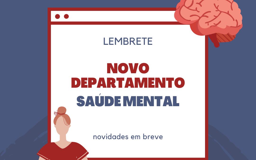 Novo Departamento de Saúde Mental